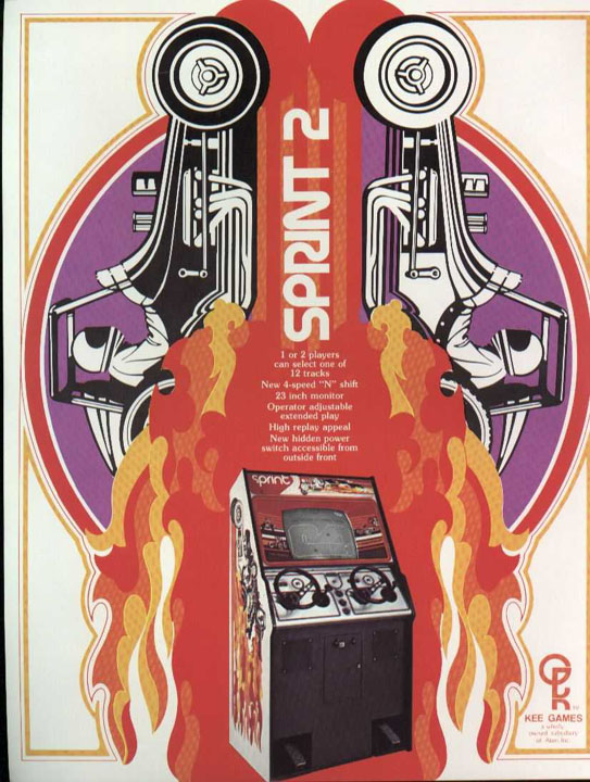 My favorite video game back in the day was Sprint 2 by Atari.