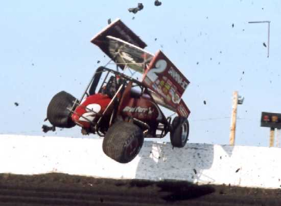 Sprint Car Crashes At Knoxville